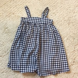 Old Navy Blue Check Dress NWT